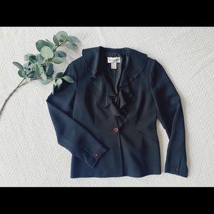 Vintage Bloomingdales blazer with ruffle detail